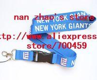 Wholesale  Hot 30pcs NEW YORK GIANTS FOOTBALL sport Lanyard/ MP3/4 cell phone/ keychains /Neck Strap Lanyard WHOLESALE