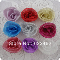 100pcs Satin Ribbon Flowers Roses/trim/sewing A080