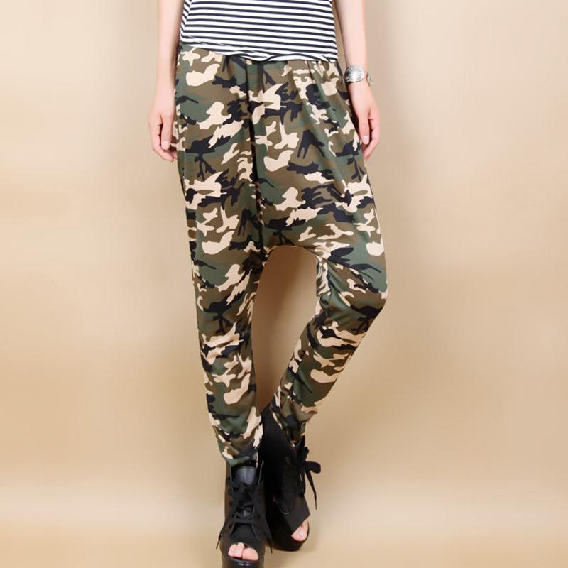 New Jazz harem women hip hop pants dance loose plus size trousers personalized Camouflage big crotch sweatpants(China (Mainland))