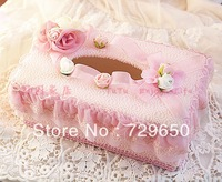 Bud tissue box set of car loaded with household with rural dining-room of Europe type creative lovely cloth art paper towel box