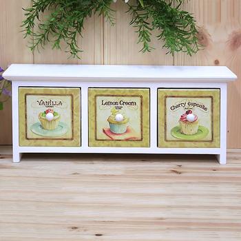 Free Shipping Mini fashion storage box drawer horizontal storage cabinet bedside cabinet decoration box