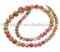 Round Multicoloured Jade Beads Gemstsone Strand  Loose Nature Semi-Precious stone Strand 16''L=38cm/strand