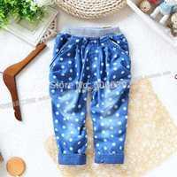 Z a female baby summer trousers harem pants casual pants blue jeans children's pants