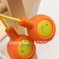 free shipping 50pcs/lot Lose money promotion12 colors to choose fruit smile earphone in ear headphones