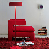 Hot sales China tall floor lamp modern geometry red black white  free shipping