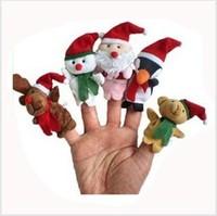50pcs/lot Christmas Santa Finger Puppets ,Plush Toys/Stuffed Doll For Kids/Babies Storyteller/Talking Props
