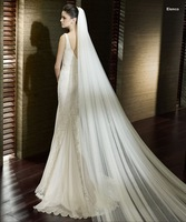 2013 Free shipping Ivory  Cheap tulle  3M  long wedding veil bride accessories A013