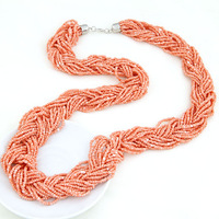 fashion personality fashion long necklace design handmade knitted necklace female