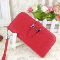 New arrival  for SAMSUNG   i9500 s4 mobile phone case genuine leather case flip belt lanyard protective case