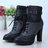 Fashion supermode cool bucket brockden platform high-heeled martin boots