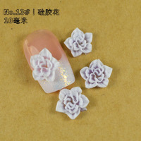 14ct Nail Art Ceramic Flowers, 3D Nail Art Flowers, Dried Flower for Nail Tip Decoration, No.13 Polymer Flower with Free Ship