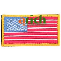 Brit-pop U.S. A Flag Pattern Embroidered Cloth Badge Tag Patch Velcro Sticker for DIY Shirt Uniform Jacket