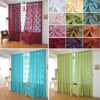 High Quality Linen Material Thick Gauze  Finished Tulle Curtains Cortina for Bedroom Living room luxury  for Window shade :a0108