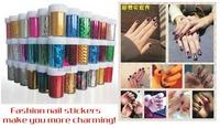 [ Free Shipping ] 12pcs/lot, 20 Designs, 4cmX120cm per piece Fashion Transfer Foils Sticker for Nail Art, DIY Nail Decoration