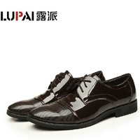 2013 new fashion men's business dress shoes British patent leather shoes low shoes shoes authentic