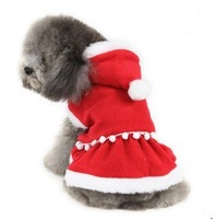 Red winter clothes pet clothes dog supplies dog clothes christmas dress Free shipping winter festive New Year