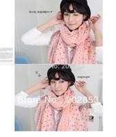 New Fashion Women's Polka Dots Viscose Scarf Shawl Wrap Warm headband shawl, 180*110 circle dot Lace Print Scarves FREE SHIPPING