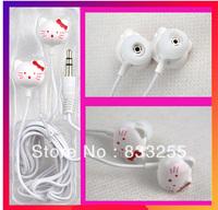 HOT SALES!50pcs/lots Hello Kitty Fashion Earphone Headphone Headset for mp3 phone PC Free Shipping
