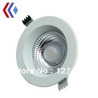 Free shipping 10w Cob downlights AC110~240V 2 Years warranty 750LM IP65 anti-dazzle  CE&ROHS Silver shell Cob led 10W