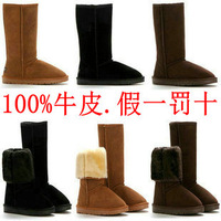 fashion High Quality women  Brand High Wool Warm Winter Snow Boots wool fleece snow boots size35-39