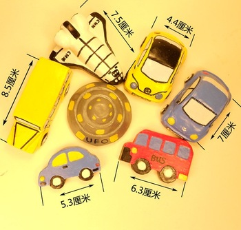 Free shipping Gypsum colored drawing tofo white mold membrane child toy car school bus diy handmade variegating