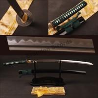 Full Tang Tamahagane Samurai Sword Folded Steel Clay Temperedkatana Can Cut Tree