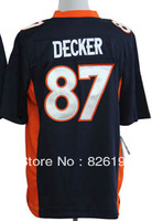 Free shipping #87 Eric Decker Game Football Jersey, Embroidery And Sewing Logos Men's Sport jerseys