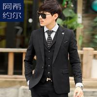 Ax suits male wedding dress slim suit casual work wear groom wear