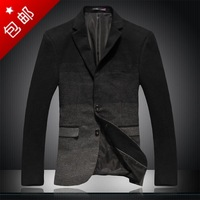 Men's clothing autumn casual male slim woolen suit blazer jacket outerwear fashion male suit