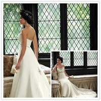 Free shipping 2013 Luxury Expensive Full Swarovski Crystal Beaded Silk Chiffon ivory Wedding Dress SS-77