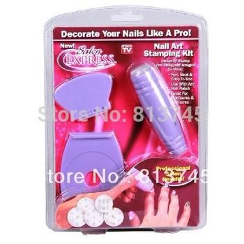 Nail Art Stamp Stamping kit Polish Nail Decoration as seen on TV 2015