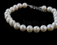 Free shipping!!!Natural Cultured Freshwater Pearl Jewelry Sets,fantasy women jewelry, bracelet & necklace, brass clasp, Round