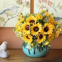 Fish smile sunflower bountyless fashion artificial flower decoration flower