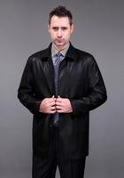 NEW 2013 sheepskin men's clothing medium-long Jacket Leather Men Brand Down Jacket Men's Jackets free shipping