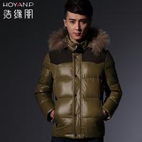 NEW 2013 HOYANP Down Jacket Men Thickening ]Design Short Down Coat Male Hooded Down Coat XXXL Free Shipping