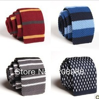 63 COLORS!! Wholesale Fashion Mens Knitted Tie Striped  Tie  Free shipping 60PCS. #1618A
