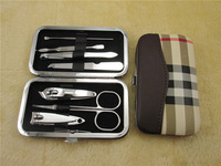 Free shipping nail art manicure set nail care set manicure tool tools manicure set 7pcs per set high quality hot selling