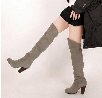 boots woman Sexy Platform Stretch Suede Leopard Grain Leopard Over The Knee Thigh High Heel Boots Shoes Eur Size 34-43,58(China (Mainland))