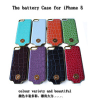 new design crocodile leather power case for iphone 5