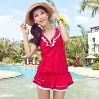 2013 swimwear none skirt split female hot spring swimwear
