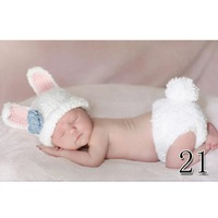 2013 new animal shape baby clothes, hat + pants 2 pcs set, cute bunny retail Free shipping
