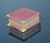 Quality artificial leather PU diamond pattern necklace box pendant box jewelry box gift box