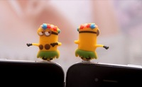 New Arrivals Despicable Me Minions .5mm  Anti Dust arphone Jack Plug Stopper Cap For iphone HTC Free Shipping