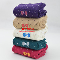 Spring and autumn socks female 100% cotton socks  high quality combed embroidery  socks  knee-high socks