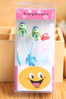 MONSTERSINC Cartoon Anime 3.5mm in ear Headphone Earphone Headset with Earbuds for Mobile Phone MP3 PC Computer  Free Shipping