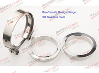 "4"" Self Aligning Male/Female V-Band Vband Clamp Stainless Steel Flange Kit"
