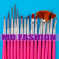 free shipping 2013 new hot sale 15 PRO NAIL ART DESIGN PAINTING BRUSH SET POLISH PEN BRUSHES SET 1104