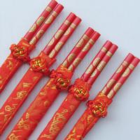 Wedding chopsticks ceremonized choptsicks coins chopsticks marriage chopsticks bamboo chopsticks double fsd-0404 16g