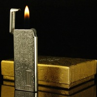 Ultra Thin Cigarette Cigar Gas Butane Lighter Metal Elegance Texture Style
