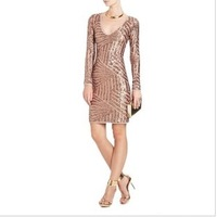 One-piece dress bcb full-body slim dress party dresses evening dress